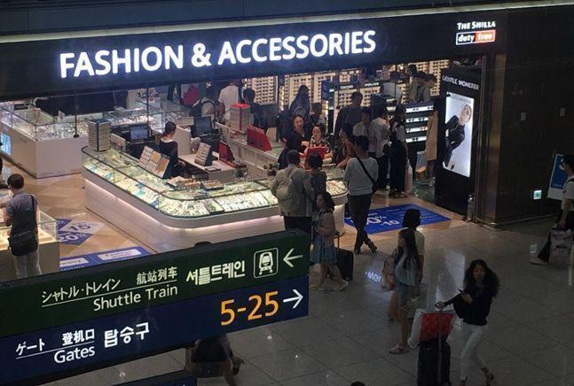 코로나19 사태 이전 인천공항 면세점 모습.ⓒ데일리안