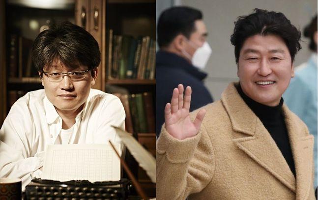 신연식 감독과 배우 송강호ⓒ루스이소니도스, 데일리안DB
