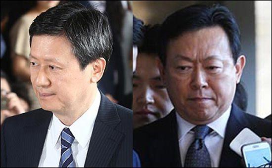 신동주 SDJ코퍼레이션 회장(왼쪽)과 신동빈 롯데그룹 회장(오른쪽).ⓒ데일리안