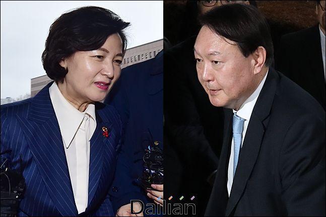 추미애 법무부 장관과 윤석열 검찰총장(자료사진) ⓒ데일리안 홍금표 기자