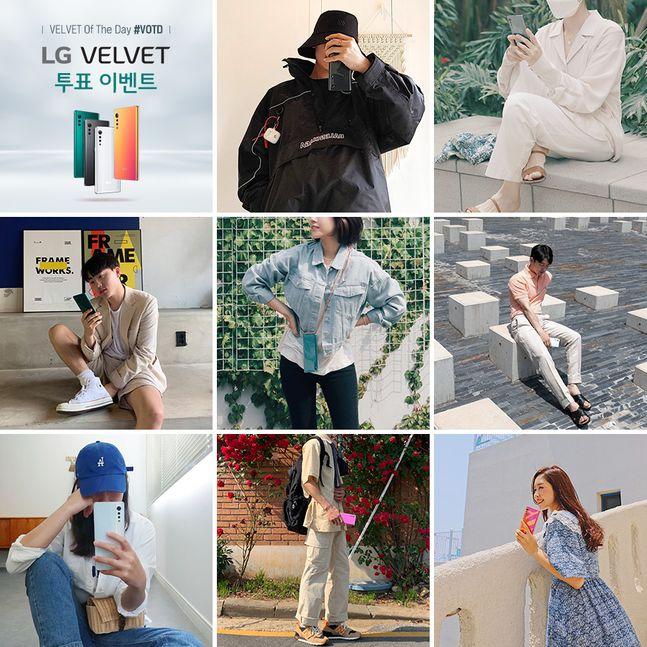 LG전자가 오는 15일까지 LG 벨벳 베스트드레서 투표 이벤트를 실시, LG 벨벳의 매력적인 디자인과 가장 잘 어울리는 패셔니스타를 뽑는다고 5일 밝혔다. 사진은 'LG 벨벳 체험단'이 촬영한 콘셉트 사진.ⓒLG전자