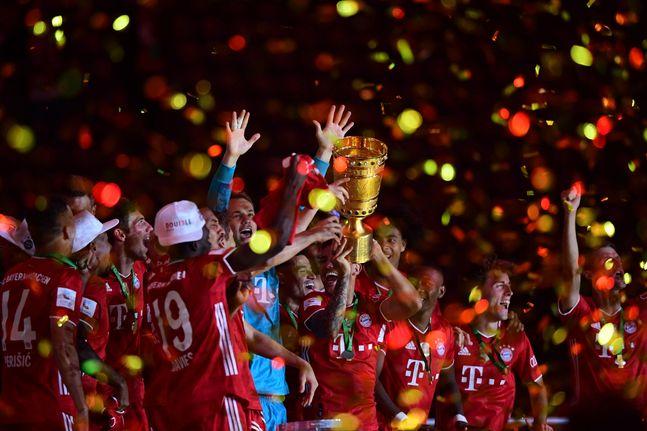 DFB 포칼 우승으로 더블을 확정한 바이에른 뮌헨. ⓒ 뉴시스