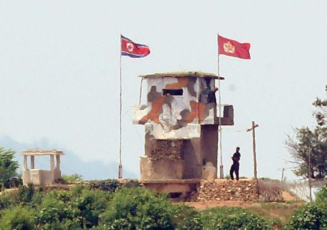 경기도 파주시 접경지역에서 바라본 북한군 초소(자료사진) ⓒ뉴시스