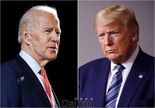 (오른쪽부터) 도널드 트럼프 미국 대통령과 조 바이든 전 부통령(자료사진) ⓒAP/뉴시스