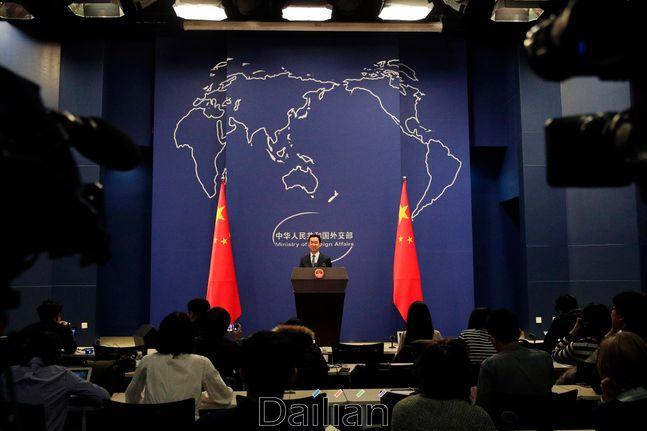 중국 베이징 외교부에서 일일 브리핑이 진행되고 있는 모습(자료사진). ⓒAP/뉴시스