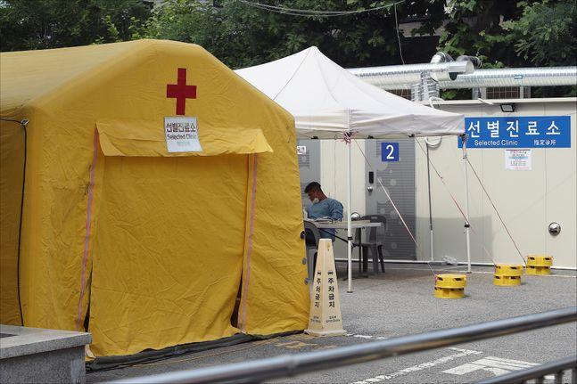 지난달 9일 오후 서울 동대문구 서울동부시립병원 선별진료소가 다소 한산한 모습을 보이고 있다.(자료사진)ⓒ데일리안 홍금표 기자