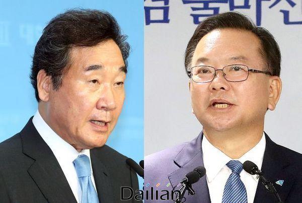 더불어민주당 8.29 전당대회 당대표 경선에 출마한 이낙연 의원과 김부겸 전 의원. ⓒ데일리안 박항구 기자