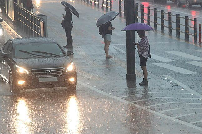 서울 전역에 강한 비바람이 불면서 호우주의보가 내려졌다.(자료사진) ⓒ데일리안 류영주 기자