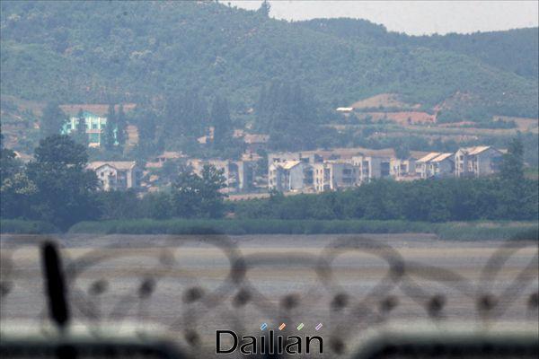경기도 파주시 접경지역에서 바라본 북한 영토(자료사진). ⓒ데일리안 홍금표 기자