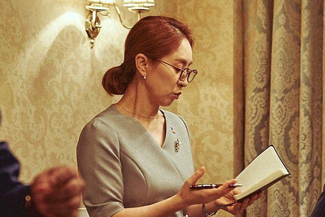 통역 개그의 달인, 배우 전영미 ⓒ롯데엔터테인먼트 제공