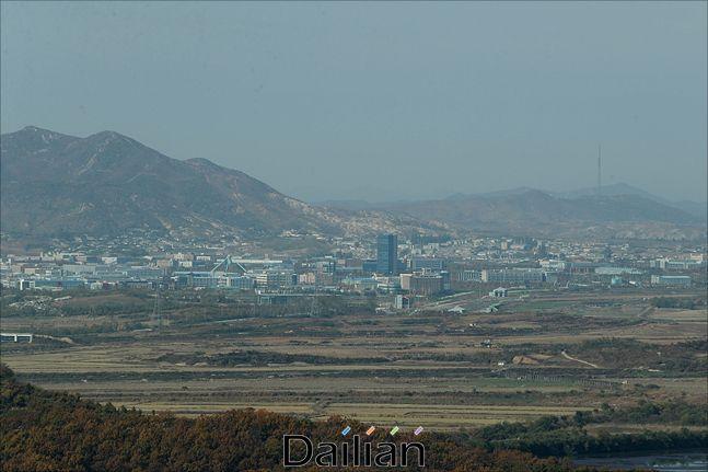 경기도 파주시 소재 도라산 전망대에서 보이는 개성공단의 모습(자료사진). ⓒ데일리안 홍금표 기자