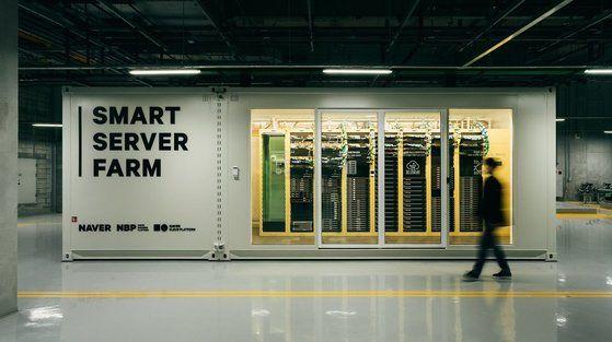 네이버 춘천 데이터센터에 설치된 서버팜.ⓒ네이버