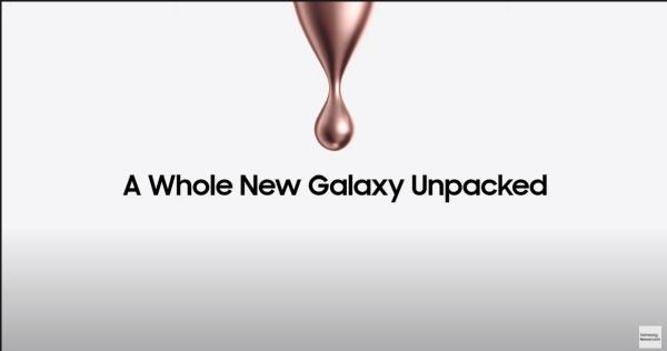 삼성 공식 유튜브 채널에 올라온 갤럭시 언팩 2차 예고 영상 캡처
