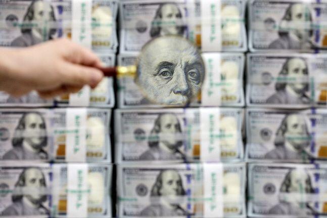 우리나라의 외환보유액 규모가 한 달 새 58억 달러 가까이 늘어난 것으로 나타났다.ⓒ뉴시스