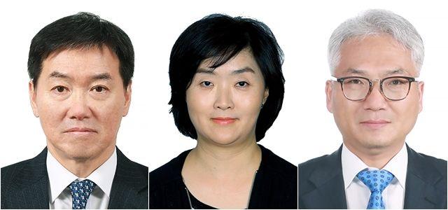 (왼쪽부터) 박정현 신임 국가정보원 제2차장, 김선희 신임 국정원 제3차장, 박선원 신임 국정원 기획조정실장. ⓒ청와대