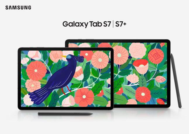 삼성전자 태블릿 '갤럭시탭S7'과 '갤럭시탭S7+'.ⓒ삼성전자