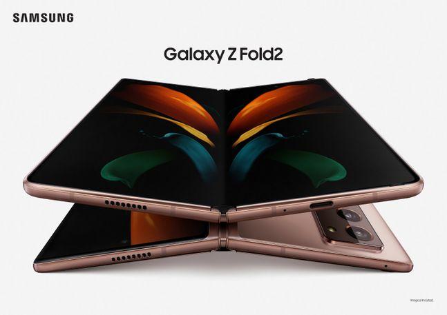 삼성전자 폴더블 스마트폰 '갤럭시Z 폴드2' 미스틱 브론즈 모델.ⓒ삼성전자