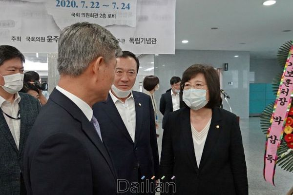 정경희 미래통합당 의원(맨 오른쪽)은 지난달 22일 윤주경, 윤두현 의원의 주최로 열린