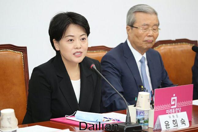 윤희숙 미래통합당 의원(왼쪽) ⓒ윤희숙 페이스북