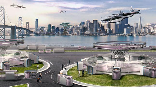 현대자동차가 CES 2020에서 발표한 UAM, PBV, Hub가 결합된 미래 도시 비전. ⓒ현대자동차