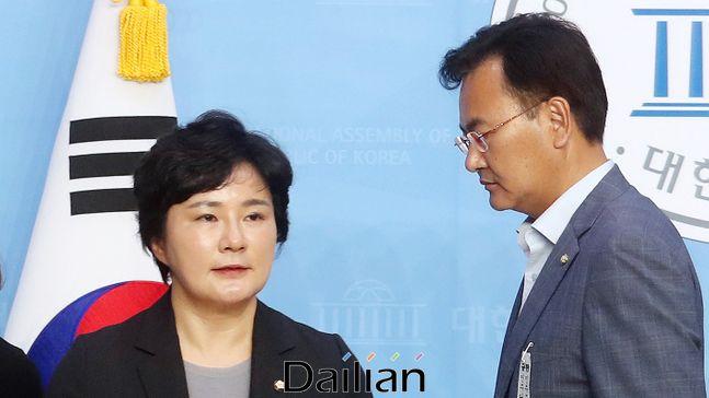 국회 법제사법위원회 소속 미래통합당 조수진·유상범 의원(사진 왼쪽부터). ⓒ데일리안 박항구 기자