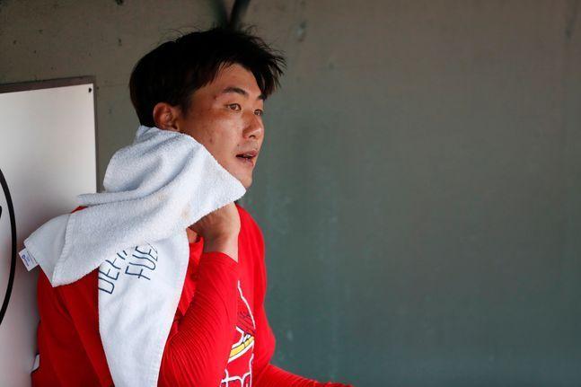 오는 12일로 예정됐던 선발 데뷔전이 뒤로 미뤄질 가능성이 커진 김광현. ⓒ 뉴시스