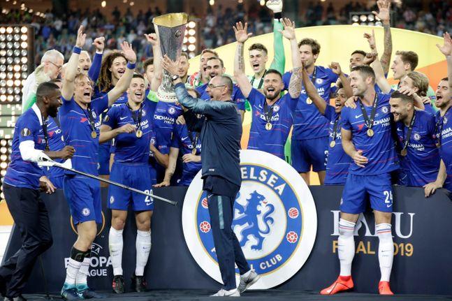 지난 시즌 유로파리그 우승을 차지한 첼시. ⓒ 뉴시스