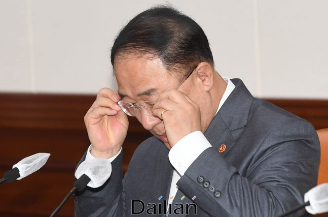 홍남기 경제부총리 겸 기획재정부 장관. ⓒ데일리안 류영주 기자