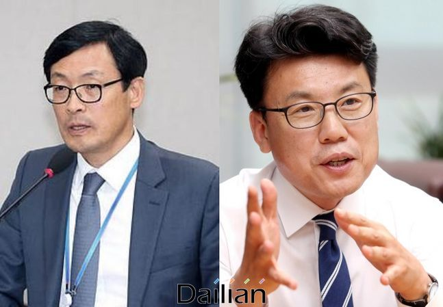 이호승 청와대 경제수석과 진성준 더불어민주당 의원 ⓒ데일리안DB