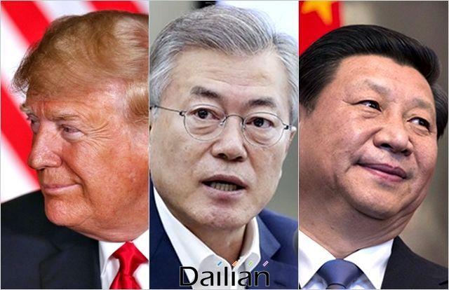 문재인 대통령, 도널드 트럼프 미국 대통령, 시진핑 중국 국가주석(자료사진) ⓒ데일리안