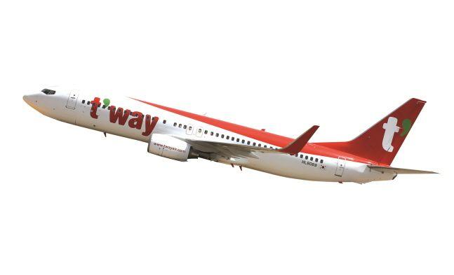 티웨이항공 항공기.ⓒ티웨이항공