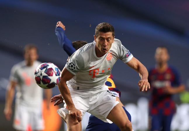 바르셀로나를 상대로 맹활약을 펼친 레반도프스키. ⓒ 뉴시스