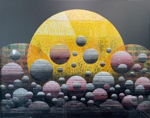 빛2_40호(100x80)_아크릴릭,캔버스_2007 ⓒ