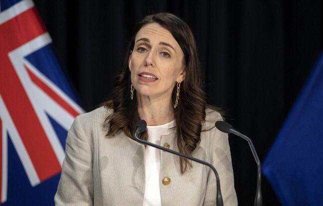 저신다 아던 뉴질랜드 총리가 지난 14일(현지시간) 수도 웰링턴에서 신종 코로나바이러스 감염증(코로나19) 관련 기자회견을 하고 있다.ⓒ뉴시스