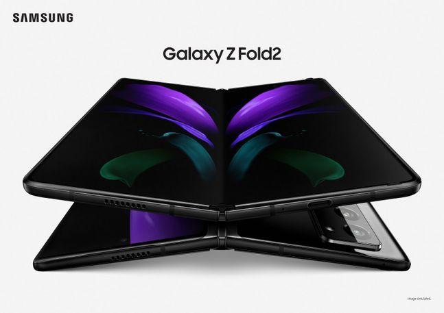 삼성전자 폴더블 스마트폰 '갤럭시Z 폴드2' 미스틱 블랙 모델.ⓒ삼성전자