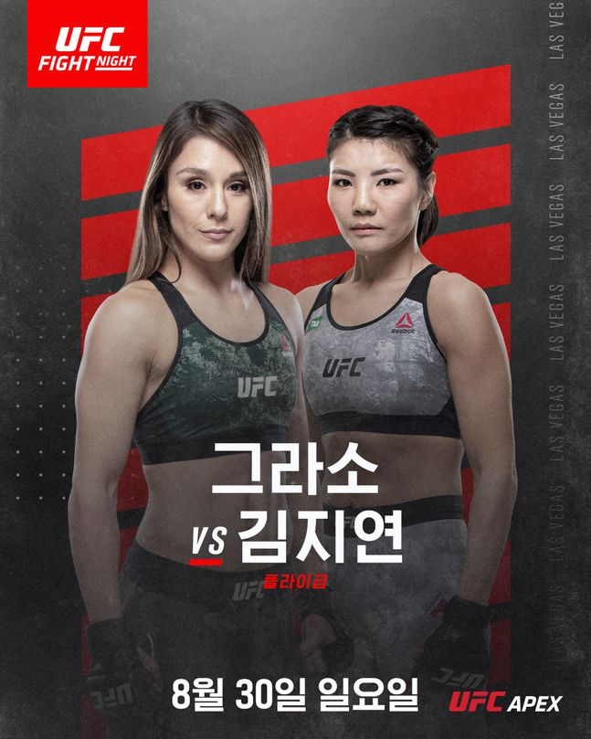 김지연과 알렉사 그라소. ⓒ UFC