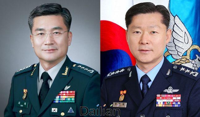 (왼쪽부터) 서욱 국방부 장관 후보자, 원인철 합동참모본부의장 후보자 ⓒ국방부