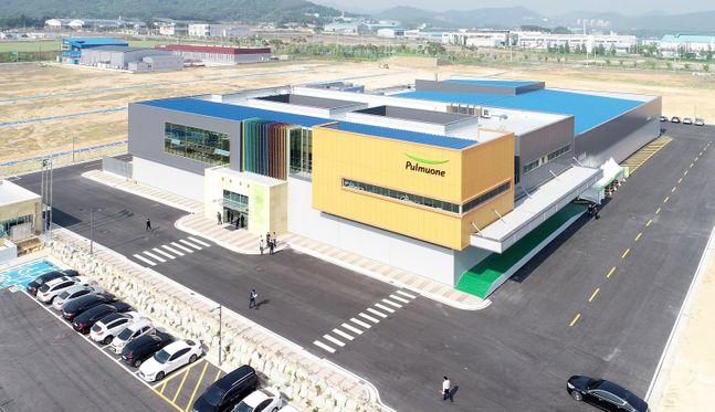 전북 익산에 위치한 풀무원 수출 전용 김치공장.ⓒ풀무원