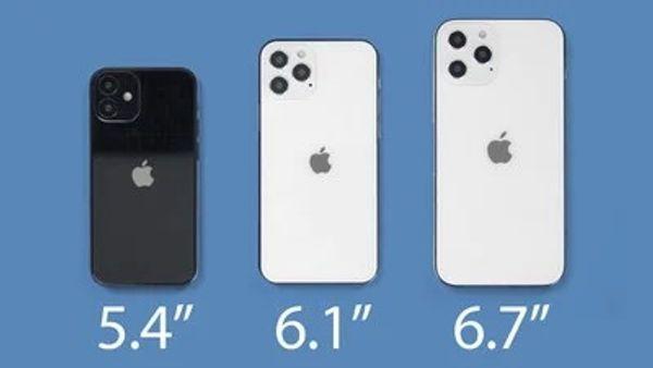 애플 스마트폰 '아이폰12' 시리즈 모형. 맥루머스 홈페이지 캡처