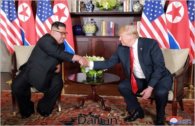 도널드 트럼프 미국 대통령과 김정은 북한 국무위원장(자료사진). ⓒ조선중앙통신