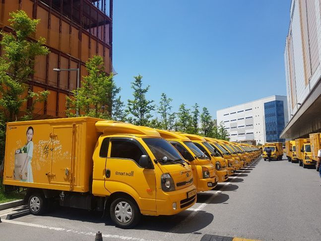 쓱닷컴 배송차량의 모습.ⓒ데일리안