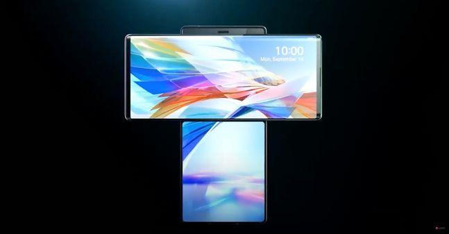 LG전자 하반기 전략 스마트폰 'LG 윙'. LG전자 유튜브 캡처
