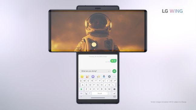 LG전자 전략 스마트폰 'LG 윙'.ⓒLG전자