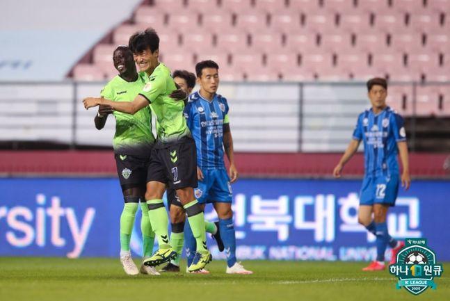 선두 울산을 잡아낸 2위 전북. ⓒ 프로축구연맹