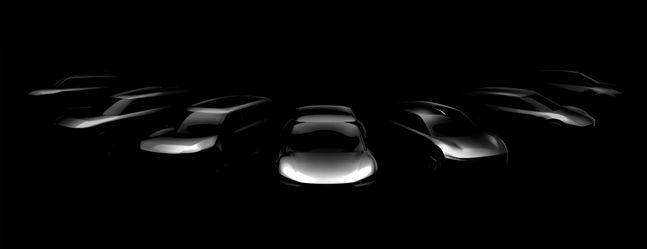 기아차가 2027년까지 출시 예정인 전용 전기차모델 7종의 스케치 이미지. ⓒ기아자동차