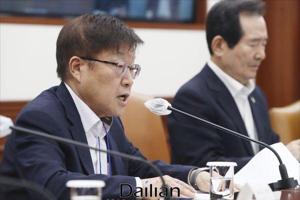발언하는 김영주 한국무역협회장(자료사진)ⓒ데일리안 홍금표 기자