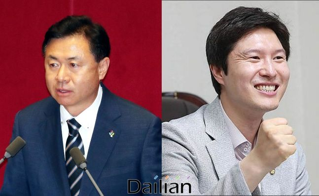 (왼쪽부터) 김영춘 국회 사무총장과 김해영 전 더불어민주당 최고위원ⓒ데일리안DB