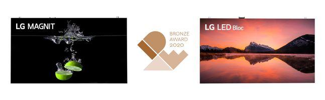 'LG MAGNIT(시리즈명: LSAB)' 및 'LG LED Bloc(시리즈명: LSAA)' 제품 이미지.ⓒLG전자