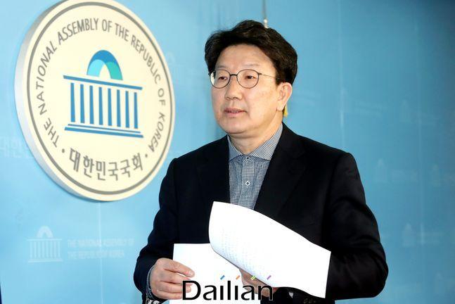 17일 국민의힘 비상대책위원회의에서 복당이 확정 의결된 4선 중진 권성동 의원. ⓒ데일리안 박항구 기자