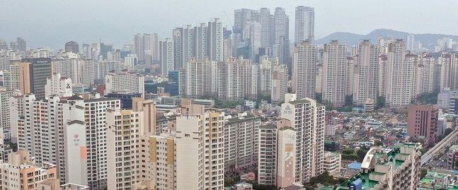 대구 수성구의 아파트 밀집지역 모습. ⓒ연합뉴스